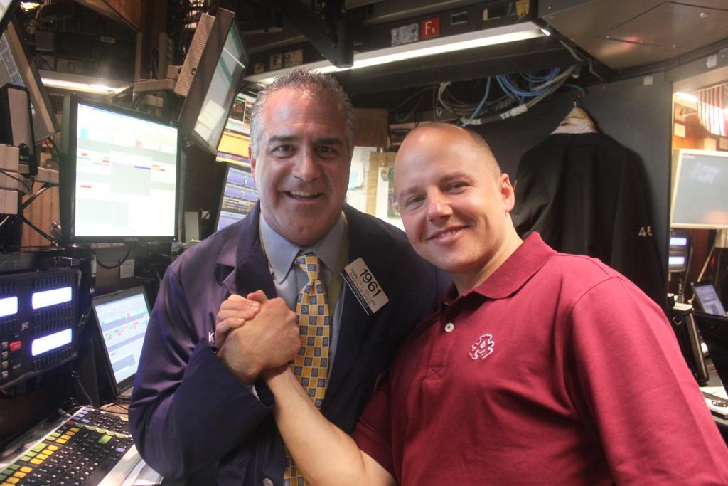 David Pieper und Kenneth Polcari an der NYSE